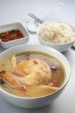 Sopa da erva da galinha Imagens de Stock