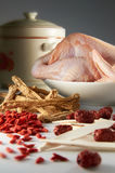 Sopa da erva da galinha Fotos de Stock