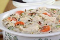 Sopa da galinha e do arroz Foto de Stock Royalty Free
