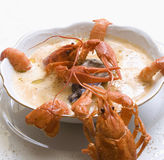 Sopa da lagosta Imagem de Stock Royalty Free