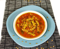 Sopa da massa do tomate Imagem de Stock Royalty Free