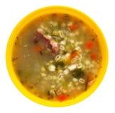 Sopa da salmoura isolada em um branco Imagens de Stock