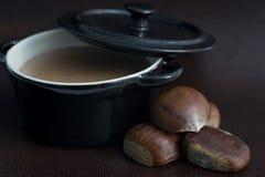 Sopa das castanhas Imagens de Stock