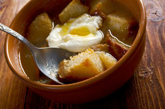 Sopa de ajo Royalty Free Stock Photography