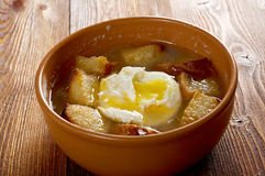 Sopa de ajo Stock Photography