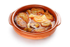 Sopa de ajo , castilian garlic soup , spanish food Stock Image