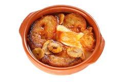 Sopa de ajo, potage castillan d'ail, nourriture espagnole Photo libre de droits