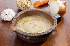 Sopa de batata com vegetal Imagem de Stock