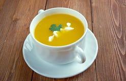 Sopa de calabaza Fotografia Stock