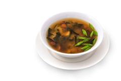 Sopa de champiñones con las hierbas Fotografía de archivo libre de regalías