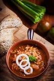 Sopa de cocido húngaro calurosa Foto de archivo libre de regalías