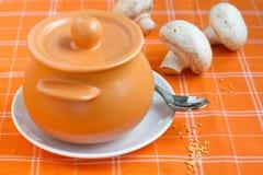 Sopa de cogumelo Foto de Stock Royalty Free