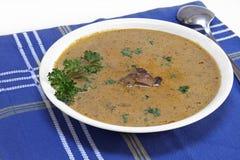 Sopa de cogumelo cremosa Imagens de Stock Royalty Free