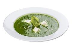 Sopa de creme com brócolis fotografia de stock royalty free