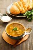 Sopa de creme com cogumelos Fotografia de Stock