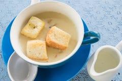 Sopa de creme com cogumelos Imagens de Stock Royalty Free
