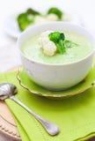 Sopa de creme com couve-flor Imagem de Stock