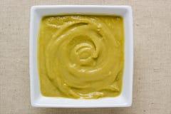 Sopa de creme da ervilha Imagem de Stock
