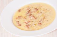 Sopa de creme da galinha Fotografia de Stock