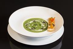 Sopa de creme do aspargo Fotografia de Stock