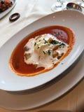 Sopa de creme do tomate Fotografia de Stock Royalty Free
