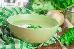 Sopa de creme dos brócolis imagem de stock royalty free