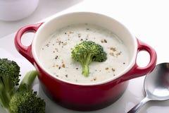 Sopa de creme dos brócolos Imagem de Stock