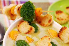 Sopa de creme dos bróculos Imagem de Stock