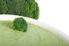 Sopa de creme dos bróculos Imagem de Stock Royalty Free