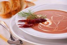 Sopa de creme dos peixes Fotos de Stock Royalty Free