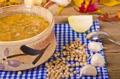 Sopa de ervilha (Grochowka polonês) Imagens de Stock