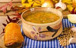Sopa de ervilha (Grochowka polonês) Fotografia de Stock