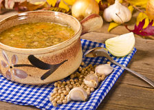 Sopa de ervilha (Grochowka polonês) Imagem de Stock Royalty Free