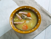 Sopa de ervilha holandesa Imagem de Stock