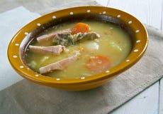Sopa de ervilha holandesa Fotografia de Stock