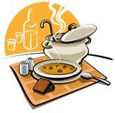 Sopa de ervilha quente Imagem de Stock