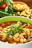 Sopa de feijão amarela do vegetariano Foto de Stock