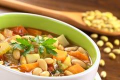 Sopa de feijão amarela do vegetariano Imagens de Stock