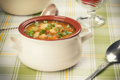 Sopa de feijão branco Foto de Stock Royalty Free