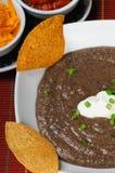 Sopa de feijão preto Fotos de Stock Royalty Free