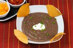 Sopa de feijão preto Fotografia de Stock