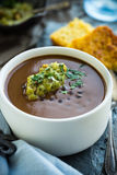 Sopa de feijão preto Fotos de Stock