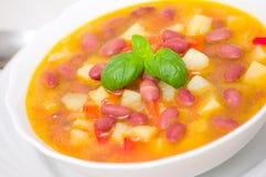 Sopa de feijão vermelho do vegetariano Imagem de Stock Royalty Free