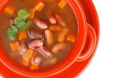 Sopa de feijão vermelho imagem de stock
