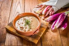 Sopa de feijões do Pinto - borlotti de Zuppa di fagioli Foto de Stock Royalty Free