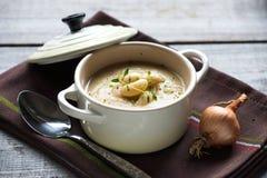 Sopa de feijão branco-amarelada Imagens de Stock Royalty Free