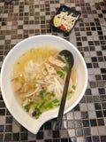 Sopa de fideos Foto de archivo libre de regalías