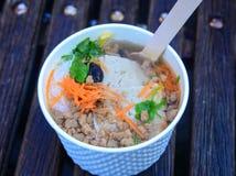 Sopa de fideos del arroz Fotos de archivo