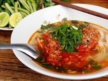 Sopa de fideos del curry Imagen de archivo libre de regalías