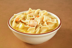 Sopa de fideos del pollo Imagen de archivo libre de regalías